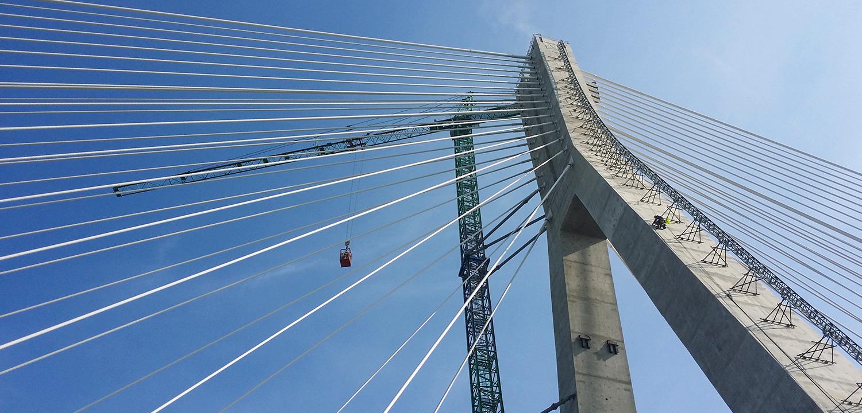 prace wysokościowe na mostach