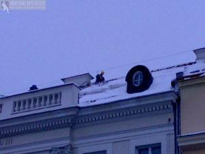 Odśnieżanie dachu ZUS Warszawa Usługi wysokościowe