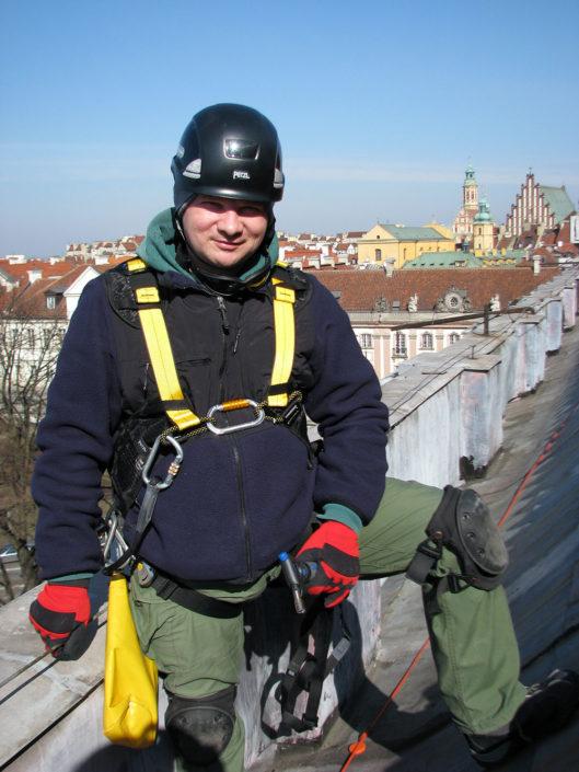W samym centrum Warszawy Prace wysokościowe