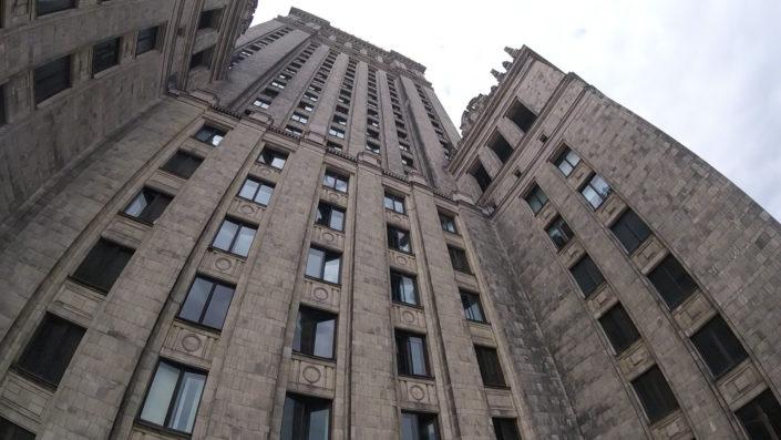 pałac kultury prace wysokosciowe