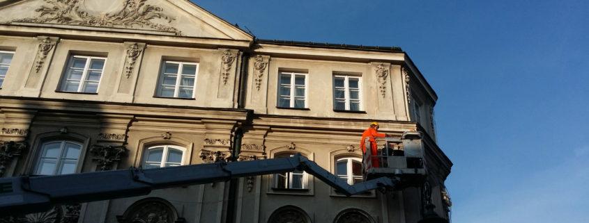 Zabezpieczanie elewacji budynków